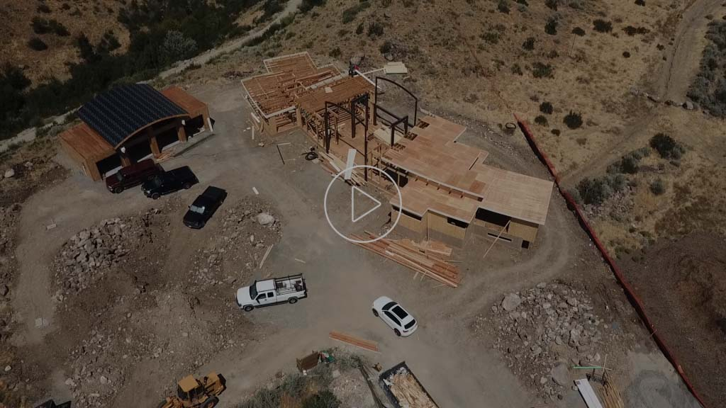 Drone footage of Woodchuck ongoing project